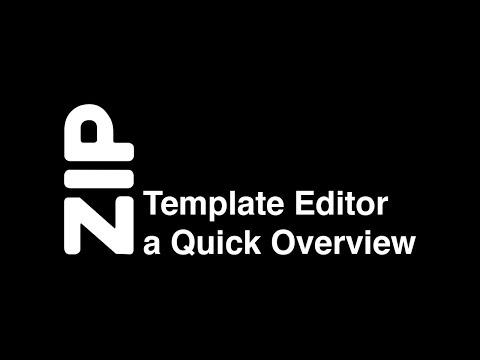 ZIP Recipes Template Editor