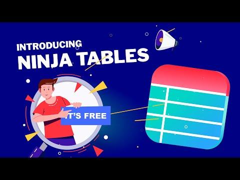 Introducing Ninja Tables - The Best WordPress Data Tables Plugin