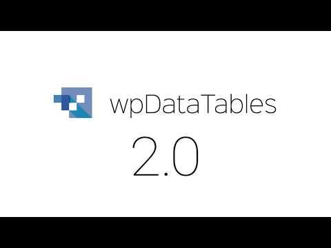 wpDataTables 2.0 - #1 Tables and Charts Creator WordPress Plugin