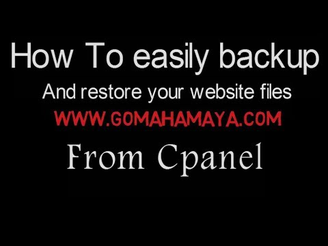Website Backup Using Cpanel Hostgator