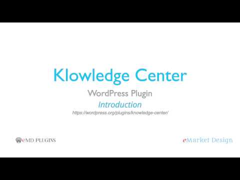 Knowledge Center WordPress Plugin - Introduction