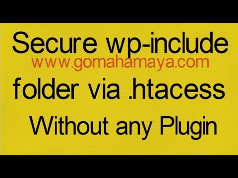 Secure WordPress wp-include folder via .htacess Files In WordPress