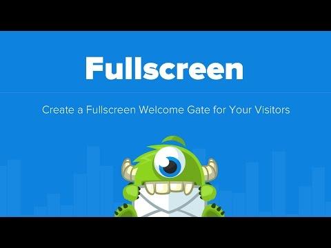 How to Create a Fullscreen Welcome Gate