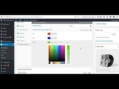 How to Create WooCommerce variation swatches on a specific product or custom attribute