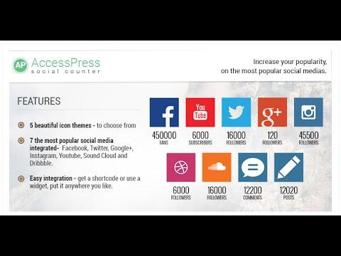 AccessPress Social Counter - Free/Responsive WordPress Plugin (Introduction Video) | WordPress Blog