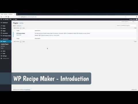 WP Recipe Maker - Introduction