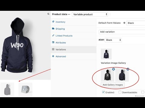 How To Insert Multiple Images in WooCommerce Variation Gallery
