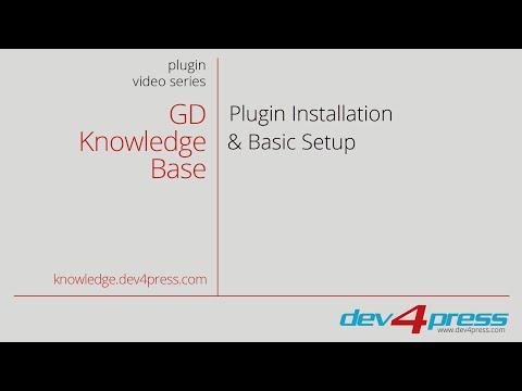 GD Knowledge Base Pro: Installation and Basic Setup