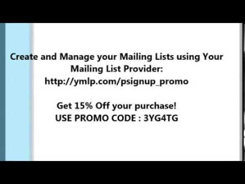 YMLP : Create and Manage your Email Marketing and Mailing Lists