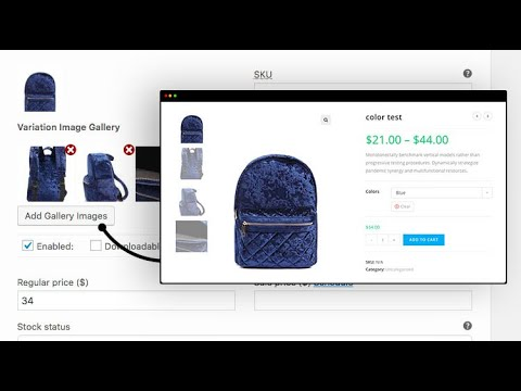 How To Set Up WooCommerce Additional Variation Images Plugin to Upload Extra image Per Variation