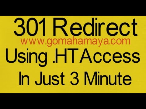 How To Create 301 redirect using .htacess file