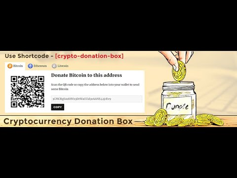 Cryptocurrency Donation Box – Bitcoin & Crypto Donations WordPress Plugin