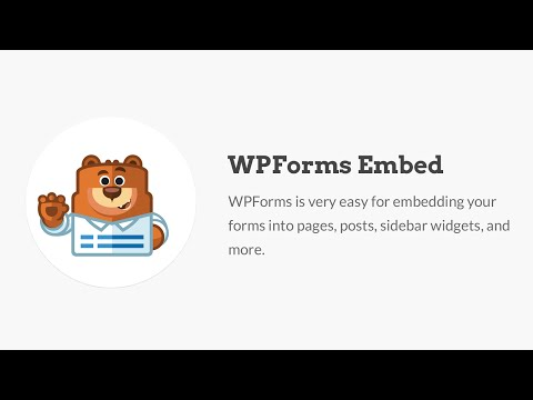 WPForms Embed Feature