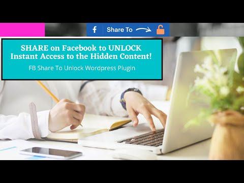 Generate FREE Facebook traffic - using FB ShareToUnlock Plugin!