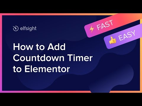 How to Add Countdown Timer to Elementor (2021)