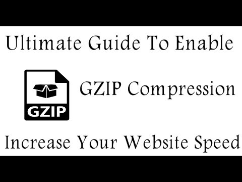 Enable Gzip Compression Using .htacess