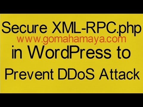 Secure XML-RPC.php in WordPress to Prevent DDoS Attack