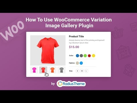 How to use WooCommerce variation images gallery
