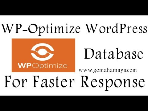 Wp Optimize Plugin | Optimize Database For Faster Response In WordPress Website
