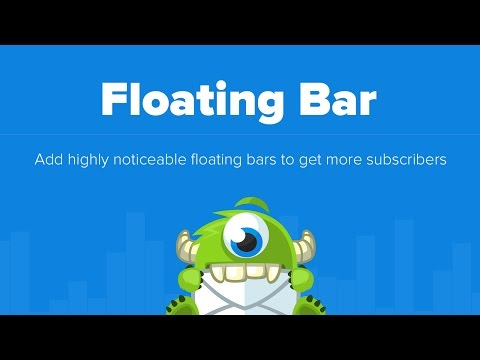 OptinMonster Floating Bar - Highly Noticeable and Increases Conversion