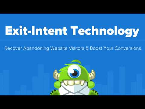 OptinMonster Exit-Intent Technology - Convert Abandoning Visitors into Subscribers and Customers