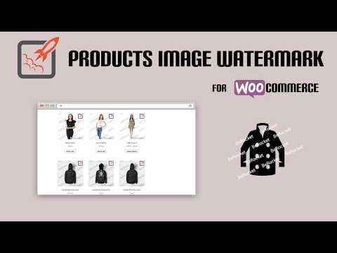 WOOCOMMERCE PRODUCTS IMAGE WATERMARK