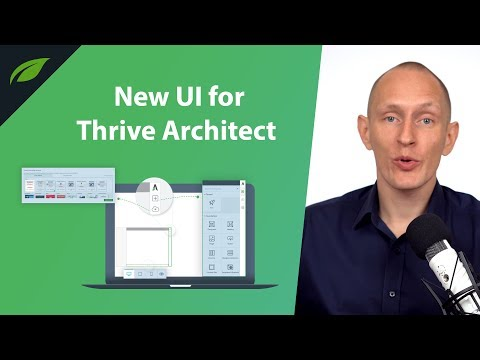 New UI in the Thrive Architect Page Builder Plugin for WordPress