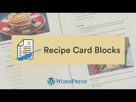 Recipe Card Blocks by WPZOOM