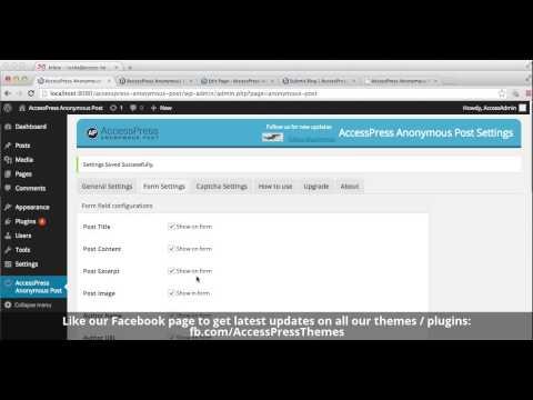 How to Use Anonymous Post Plugin - Free WordPress Plugin   WordPress Tutorial