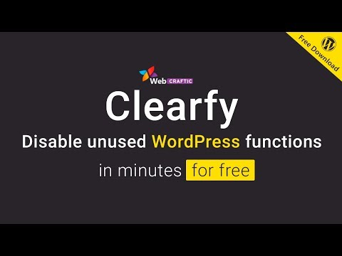 Introducing the Clearfy plugin for WordPress optimization and disable unused functions