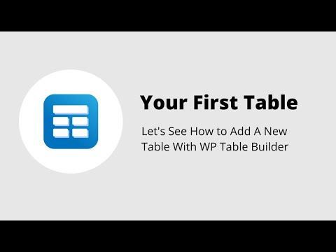 How To Create A Table With WP Table Builder - Drag and Drop Responsive Table Builder for WordPress