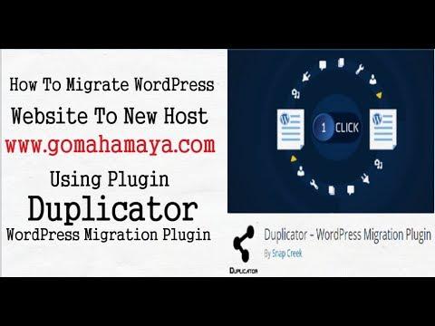 How To Migrate WordPress Website To New Host | Duplicator WordPress Plugin Tutorials