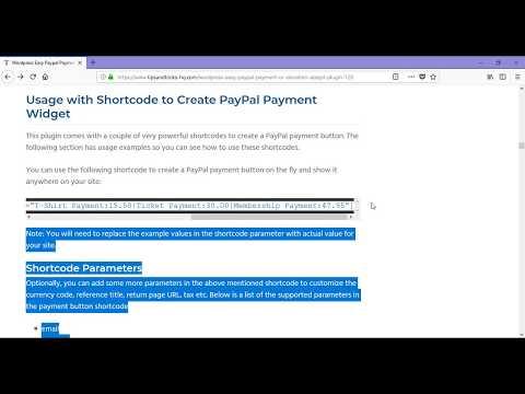WordPress Paypal Payment Accept Plugin Tutorial Part 2