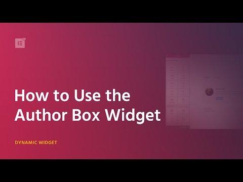 Add an Author Box Widget to WordPress Posts