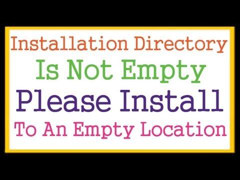 Installation Directory Is Not Empty Please Install To An Empty Location WordPress Error