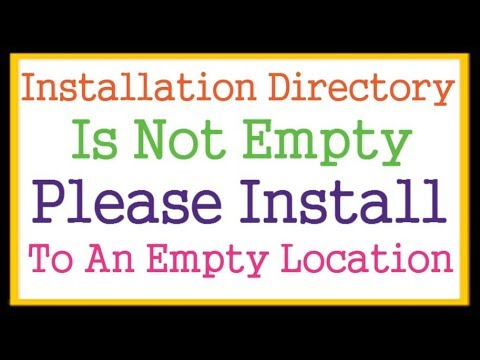 Installation Directory Is Not Empty Please Install To An Empty Location WordPress Error