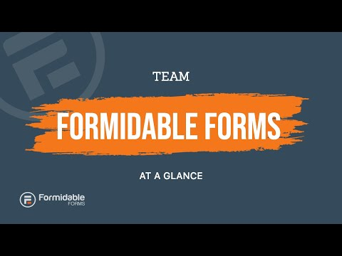 The Formidable Forms team