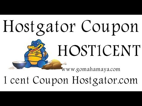 Hostgator 1 Penny coupon Code 2018