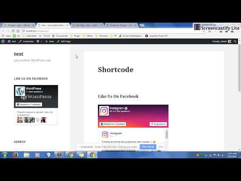 How to add a Facebook Page widget to WordPress - 2017
