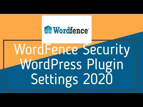 WordFence Security WordPress Plugin Settings 2020