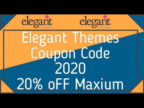 Elegant Themes Coupon Code 2020