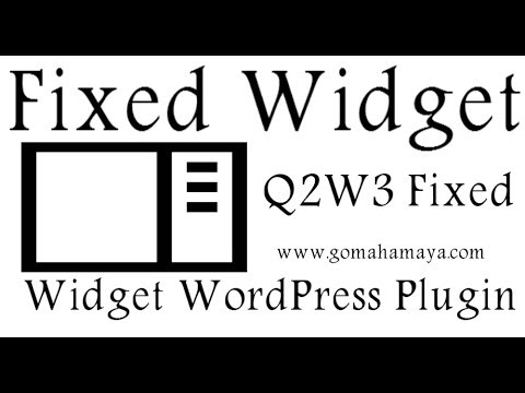Fixed Widget Using Q2W3 Fixed Widget WordPress Plugin