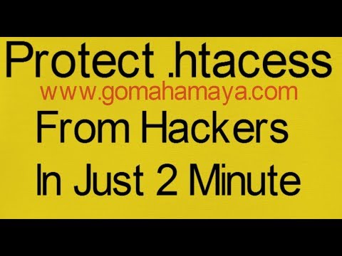 Protect Your Htacess file from hacker