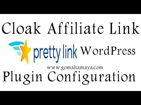 Pretty link WordPress Plugin Configuration Cloak Affiliate link