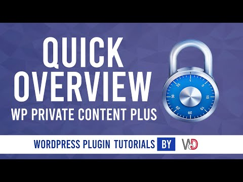 Quick Overview of WP Private Content Plus WordPress Plugin