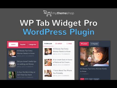 WP Tab Widget Pro WordPress Plugin by MyThemeShop