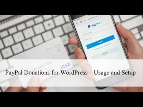PayPal Donation WordPress Buttons - Usage and Setup