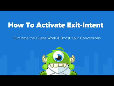 How To Activate Exit-Intent Technology for OptinMonster