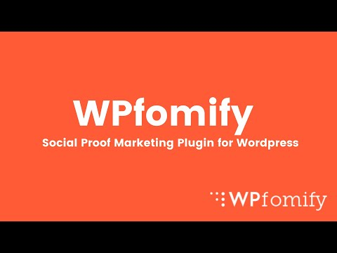 Introduction to WPfomify