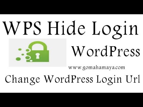 Change WordPress Login page Url | WPS Hide Login Plugin